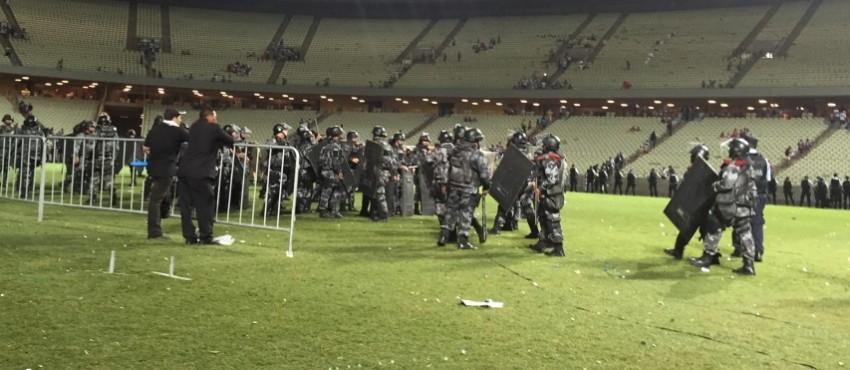 PM alega que confusão fora do Castelão desfalcou o número de homens no gramado