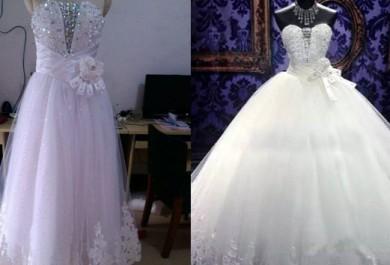 Cuidado com os vestidos de noiva da China