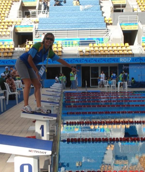 Cearense árbitra de natação está confirmada nos Jogos Olímpicos do Rio