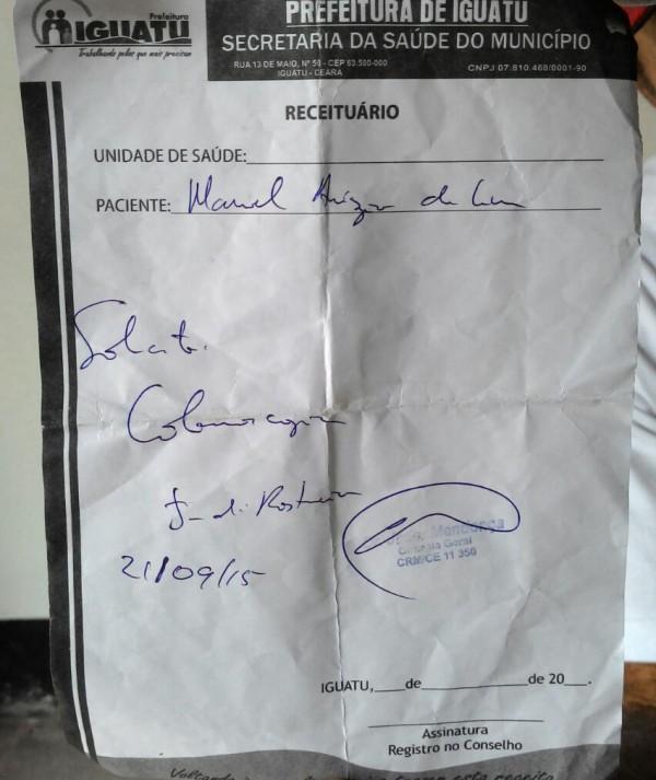 Paciente tem cirurgia cancelada porque receita médica tinha letra ilegível