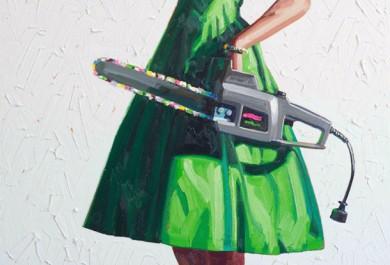 Artista questiona padrão de feminilidade em suas obras